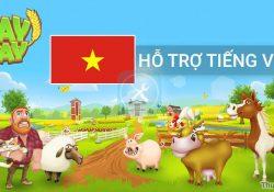 Tựa game nông trại Hay Day đã hỗ trợ tiếng Việt