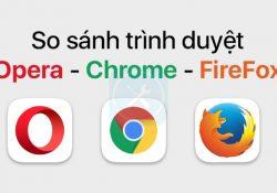 So sánh Chrome vs. FireFox vs. Opera trên iOS: Đâu là trình duyệt thay thế Safari?