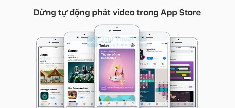 dung tu dong phat video trong app store