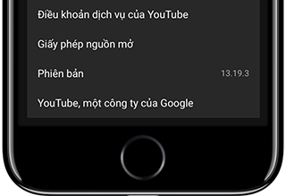 youtube phien ban 13.19.3
