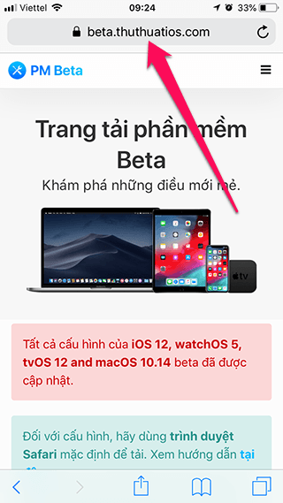 cai ios 12 beta khong can tai khoan developer