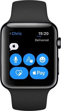 watchOS 5 Messages Apple logo symbol